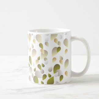 Pale Golden Petals Pattern Coffee Mug