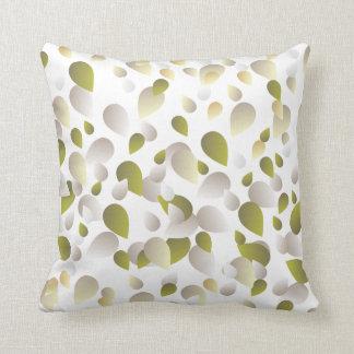 Pale Golden Petals Pattern Cushion