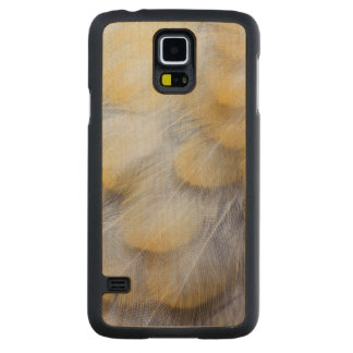 Pale Golden Thrush Feather Abstract Carved Maple Galaxy S5 Case