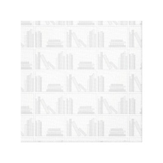 Pale Gray Books on Shelf. Canvas Print