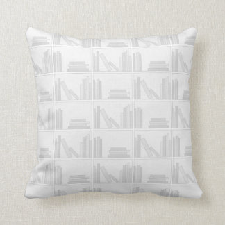 Pale Gray Books on Shelf. Cushion