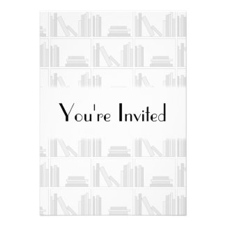 Pale Gray Books on Shelf Custom Announcements