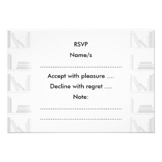 Pale Gray Books on Shelf Personalized Invitation