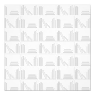 Pale Gray Books on Shelf Announcements