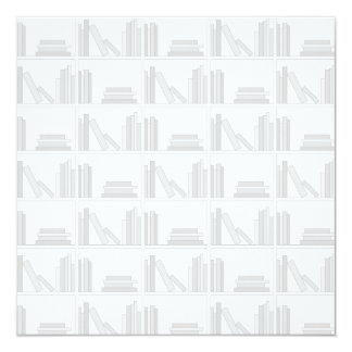 Pale Gray Books on Shelf. Announcements
