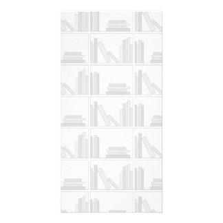 Pale Gray Books on Shelf. Photo Cards
