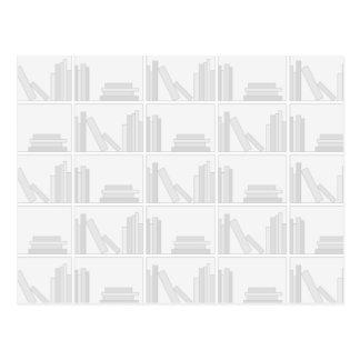 Pale Gray Books on Shelf. Postcard