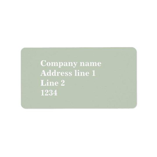 Pale green address label