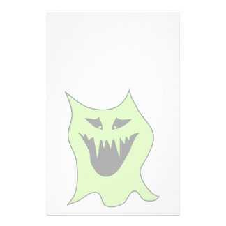 Pale Green and Gray Monster Cartoon Flyer Design