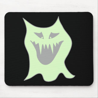 Pale Green and Gray Monster Cartoon Mouse Mat