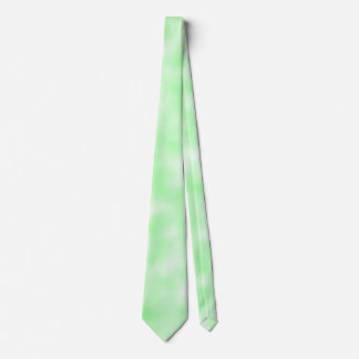 Pale Green and White Abstract Clouds Pattern Tie