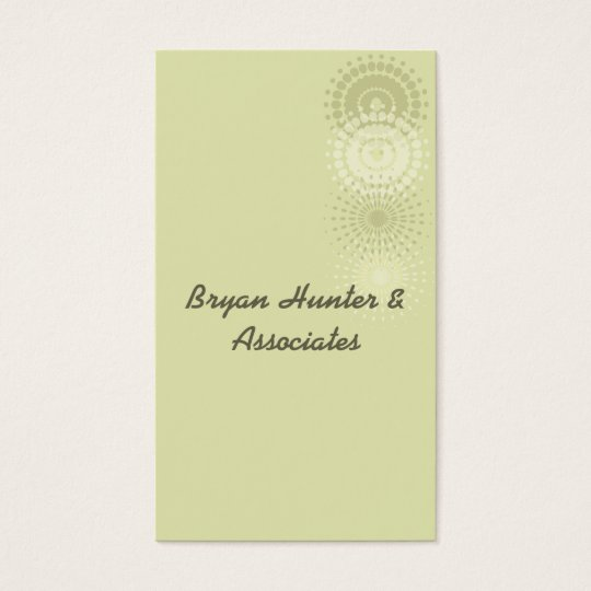 Pale Green Business Card