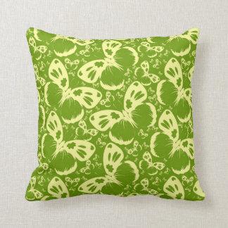 Pale Green Butterflies Cushion