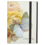 pale green butterfly on flowers iPad kickstand