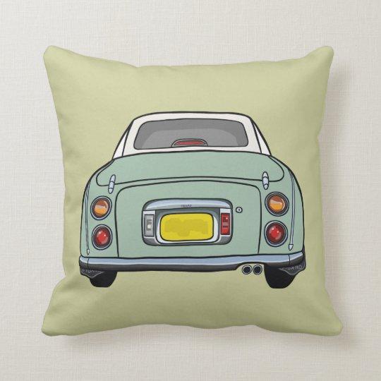 Pale green cartoon car cushion pillow