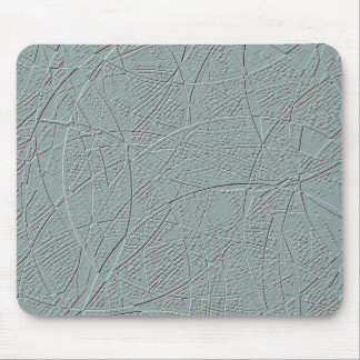 Pale green embossed effect geometric design mouse mat