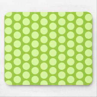 Pale Green Polka Dots Mouse Pad