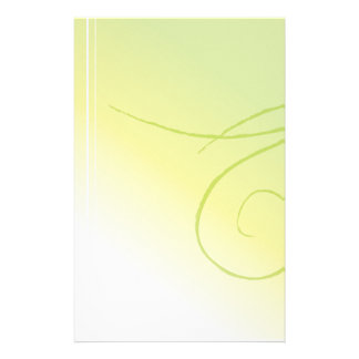 Pale green stationery