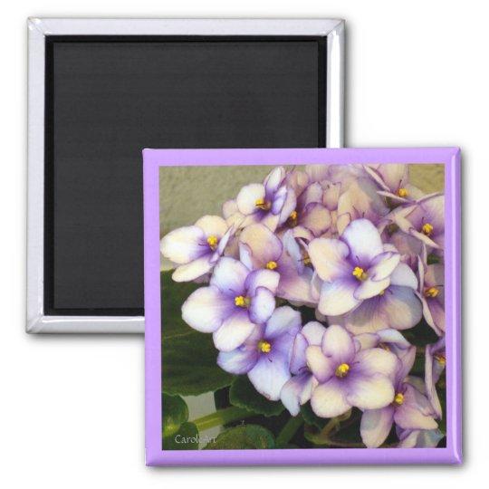 Pale Lavender Violets Magnet