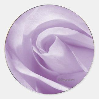Pale Lavender Wedding Invitation Seal Round Sticker