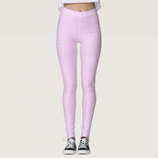 Pale Lavender Wood Grain Texture Leggings