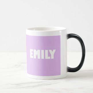 Pale lilac shade Emily name Magic Mug