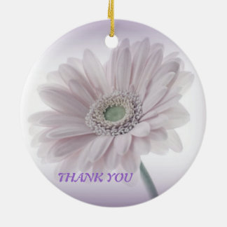 Pale Lilac Sunflower Round Ceramic Decoration