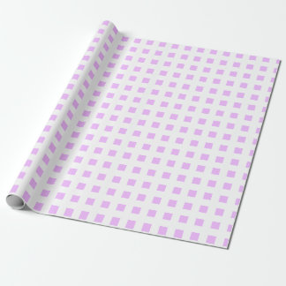 Pale Lilac White Plaids Square Wrapping Paper