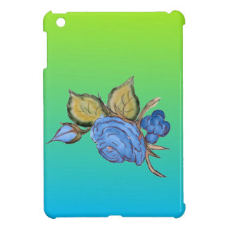 Pale Lime And Blue Two Tone Cover For The iPad Mini