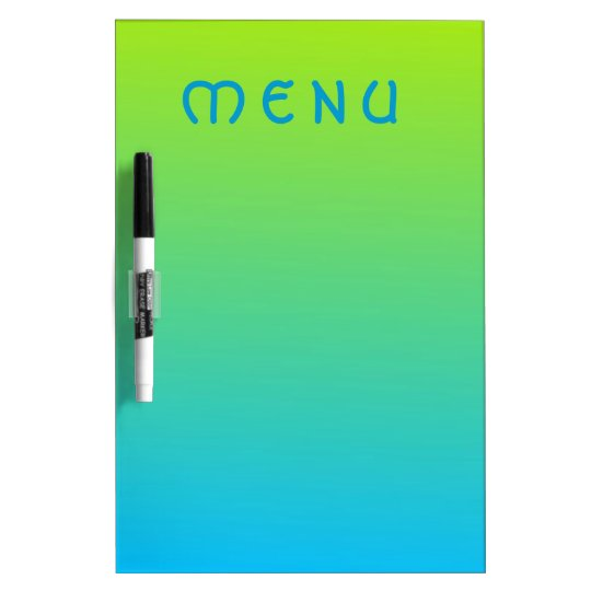 Pale Lime And Blue Two Tone Dry Erase