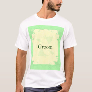 Pale Mint and Cream Scroll and Flower T-Shirt