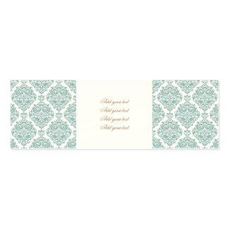 pale mint,vintage damasks,victorian,floral,pattern pack of skinny business cards