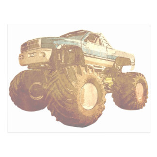 Pale Monster Truck Postcard