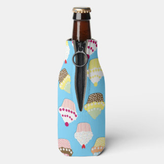 Pale Pastel Blue Cup Cakes Bottle Cooler