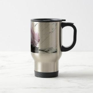 Pale Pastel Long Stem Rose on Deck Stainless Steel Travel Mug