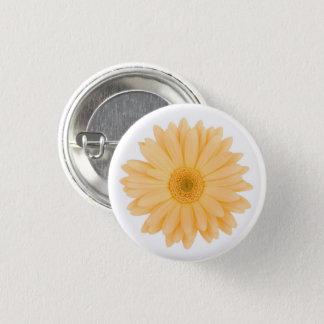 Pale Pastel Yellow Gerbera Daisy Flower 3 Cm Round Badge