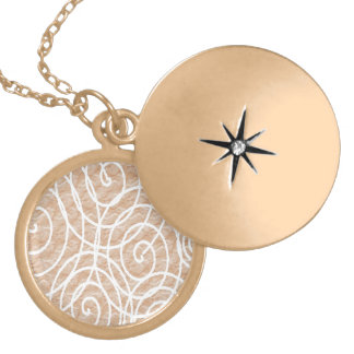 Pale Peach Circles Gold Plated Necklace