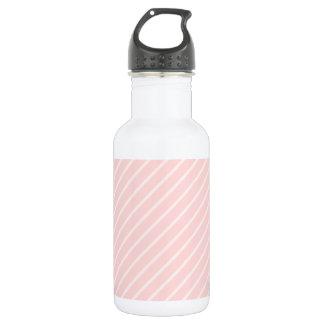 Pale Peach Pink Diagonal Stripes. 532 Ml Water Bottle