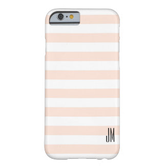 Pale Peach Spring Stripes Barely There iPhone 6 Case