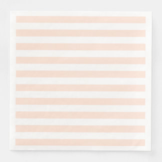 Pale Peach Spring Stripes Paper Napkins