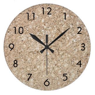 Pale Peachy Beige Cement Sidewalk Clock