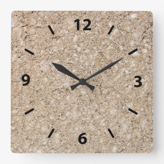 Pale Peachy Beige Cement Sidewalk Clocks