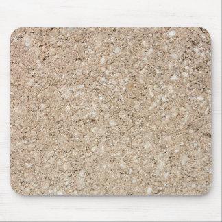 Pale Peachy Beige Cement Sidewalk Mouse Mat