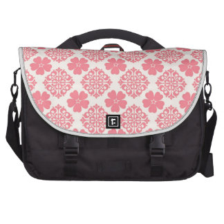 Pale Pink And Cream Floral Laptop Bag
