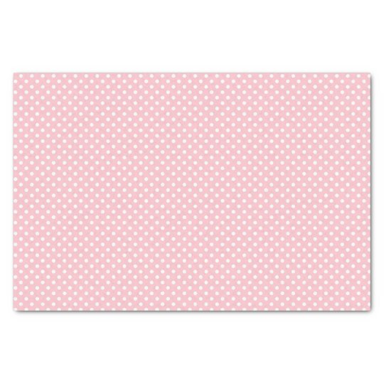 Pale Pink and White Polka Dot Pattern Tissue