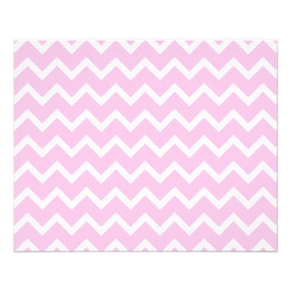 Pale Pink and White Zigzag Pattern. 11.5 Cm X 14 Cm Flyer
