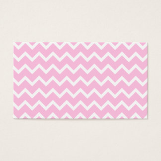 Pale Pink and White Zigzag Pattern. Business Card