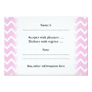 Pale Pink and White Zigzag Pattern. Card