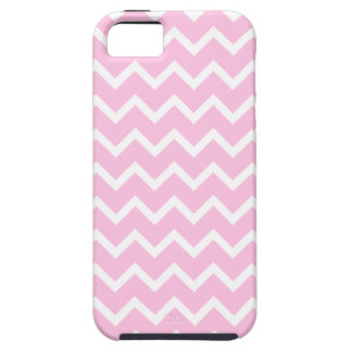 Pale Pink and White Zigzag Pattern. iPhone 5 Cases