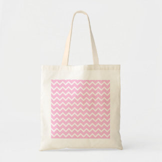 Pale Pink and White Zigzag Pattern. Tote Bag